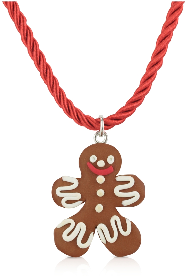 Dolci Gioie Medium Gingerbread Man Necklace