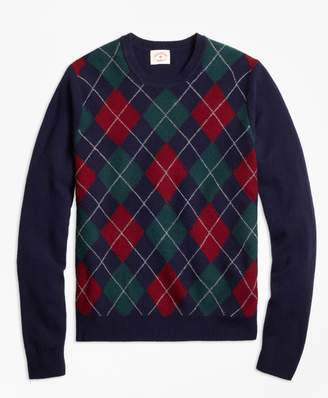 Brooks Brothers Lambswool Argyle Crewneck Sweater