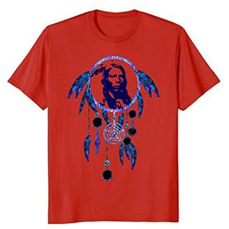 Native American Indian Chief Dream Catcher Feathers T-Shirt