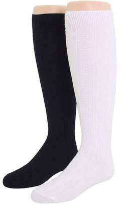 Jefferies Socks 6-Pack Acrylic Cable Knee High Girls Shoes
