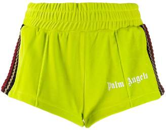 Palm Angels striped knit panel shorts
