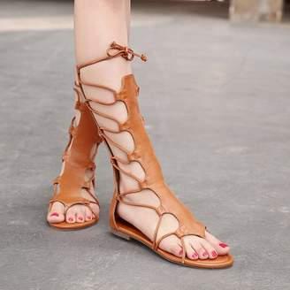 Blacho Fashion Women Summer Sandals Soft Knee Height Straps Adjustable Women Sandals
