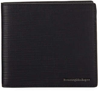 Ermenegildo Zegna Men's Bi-Fold Lamb/Calf Leather Wallet