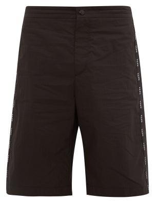 Valentino Bermuda Cotton Blend Twill Shorts - Mens - Black
