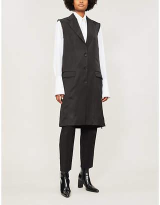 Yang Li Raw-edge satin coat