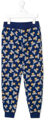 Moschino Kids TEEN teddy bear print sweatpants