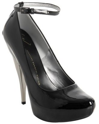 Giuseppe Zanotti black patent leather 'Pop' platform pumps