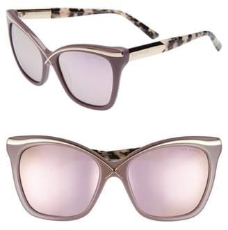 Ted Baker 57mm Square Cat Eye Sunglasses