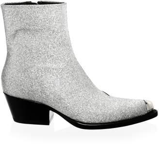 Calvin Klein Terrane Diamond Glitter Leather Booties