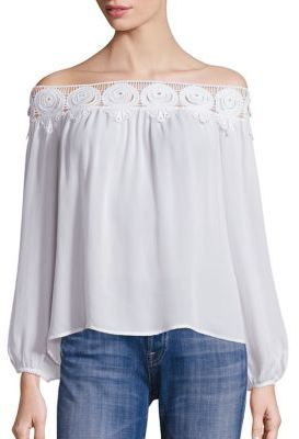 Stone Cold Fox Kyoko Lace Off-The-Shoulder Top $280 thestylecure.com