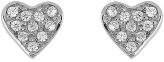Bony Levy 18K White Gold Diamond Heart Stud Earrings - 0.08 ctw