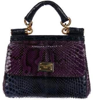 Dolce & Gabbana Python & Crocodile Small Miss Sicily Bag