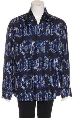 Gianni Versace Printed Silk Woven Shirt
