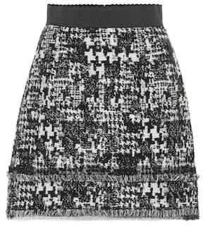 Dolce & Gabbana Wool-blend tweed miniskirt