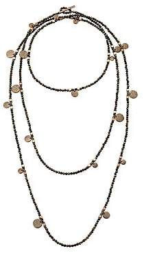 Brunello Cucinelli Women's Spinello Tiered Brown Spinel Beaded Necklace