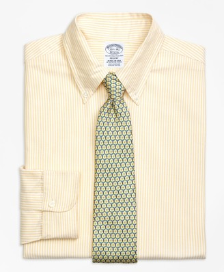 Brooks Brothers Original Polo Button-Down Oxford Regent Fitted Dress Shirt, Bengal Stripe
