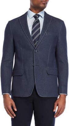 Tommy Hilfiger Blue Knit Sport Coat