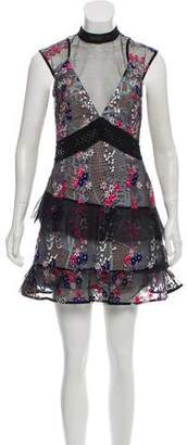 Self-Portrait Mesh Embroidered Dress w/ Tags