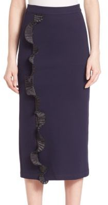 Opening Ceremony Ruffle Pencil Skirt $295 thestylecure.com