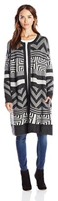 Design History Women's Graphic Cocoon Cardigan $53.62 thestylecure.com