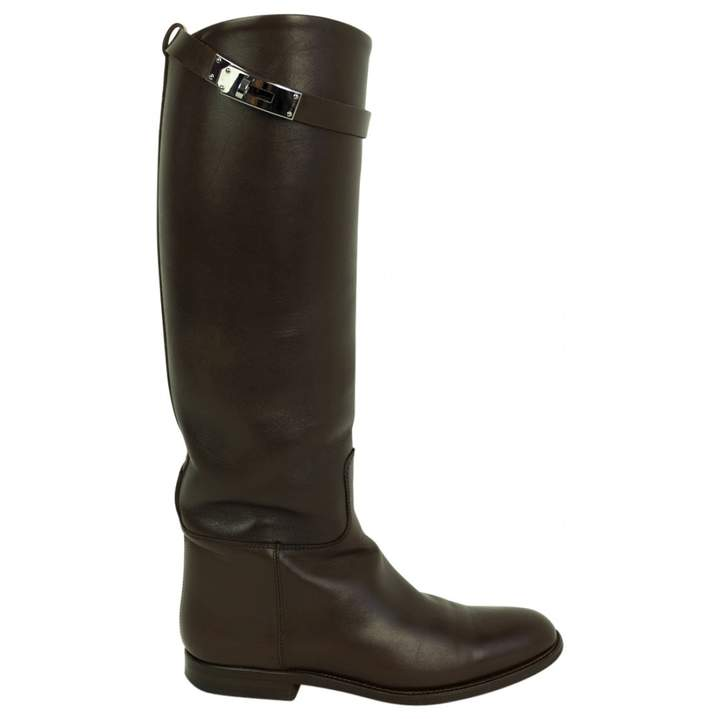 Jumping leather riding boots