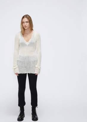 Ann Demeulemeester Long Sleeve V-Neck Sweater