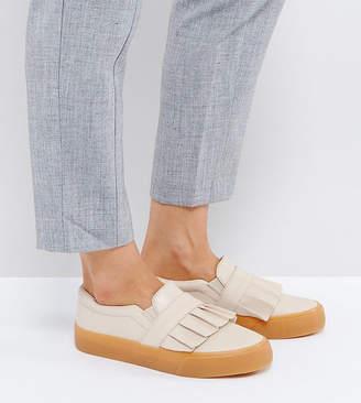 Asos DAPHNE Wide Fit Ruffle Loafer Sneaker