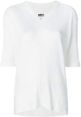 MM6 MAISON MARGIELA half sleeve V-neck sweater