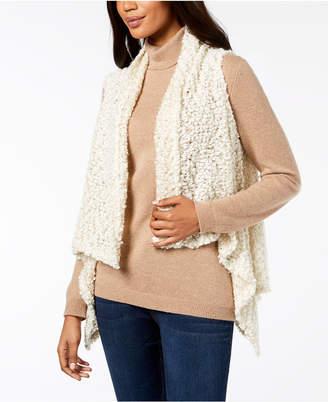 INC International Concepts I.N.C. Draped Popcorn-Knit Vest, Created for Macy's