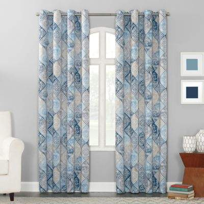 Sun Zero Sandra 84-inch Grommet Room Darkening Window Curtain Panel in Indigo