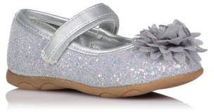George First Walkers Corsage Trim Glitter Shoes