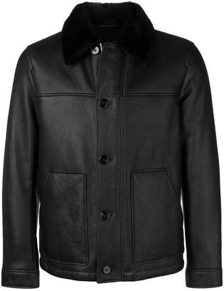 Theory buttoned shearling jacket