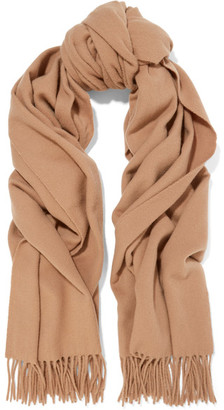 Acne Studios - Canada Fringed Wool Scarf - Brown $180 thestylecure.com