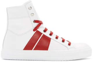 Amiri White and Red Sunset High-Top Sneakers