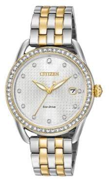 Citizen Drive from Eco-Drive Crystal Quartz Stainless Steel Strap Watch