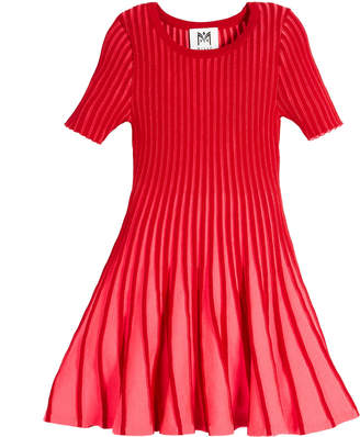 Milly Minis Contrast Godet Flare Dress, Size 4-7