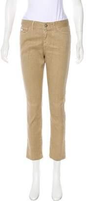 Gucci Mid-Rise Linen Blend Jeans