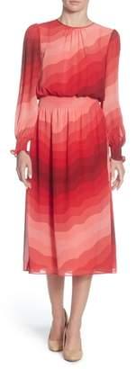 Catherine Malandrino Marlieke Chiffon Midi Dress