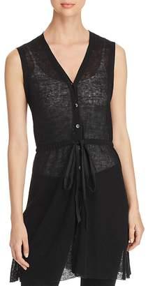 Eileen Fisher Sheer Ribbed Vest