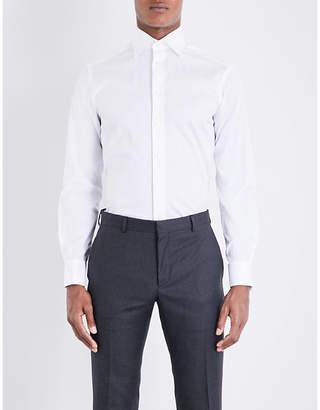 Eton Slim-fit French-cuff cotton-twill shirt