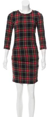 Etoile Isabel Marant Wool Plaid Dress