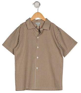 Papo d'Anjo Boys' Gingham Shirt w/ Tags