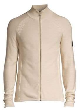 Belstaff Men's Dray Zip Cotton Sweater - Beige - Size Large