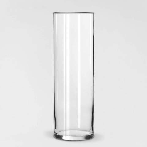 """Libbey Glass Clear Cylinder Vase (9.5"""") - Libbey"""