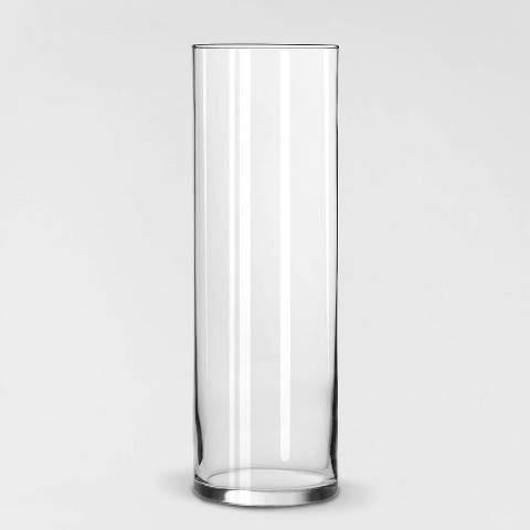 "Libbey Clear Cylinder Vase (9.5"")"