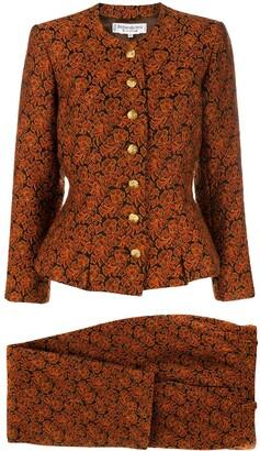 Saint Laurent Pre-Owned 1980's baroque pattern suit
