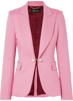 ADAM by Adam Lippes Faux Pearl-embellished Twill Blazer - Pink
