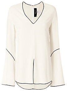 Derek Lam Piping Bell Sleeve Blouse $1,295 thestylecure.com