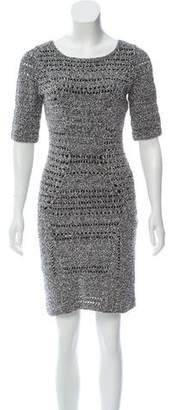 Rag & Bone Bouclé Accented Mini Dress