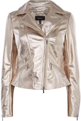 Karen Millen Gold Leather Jacket